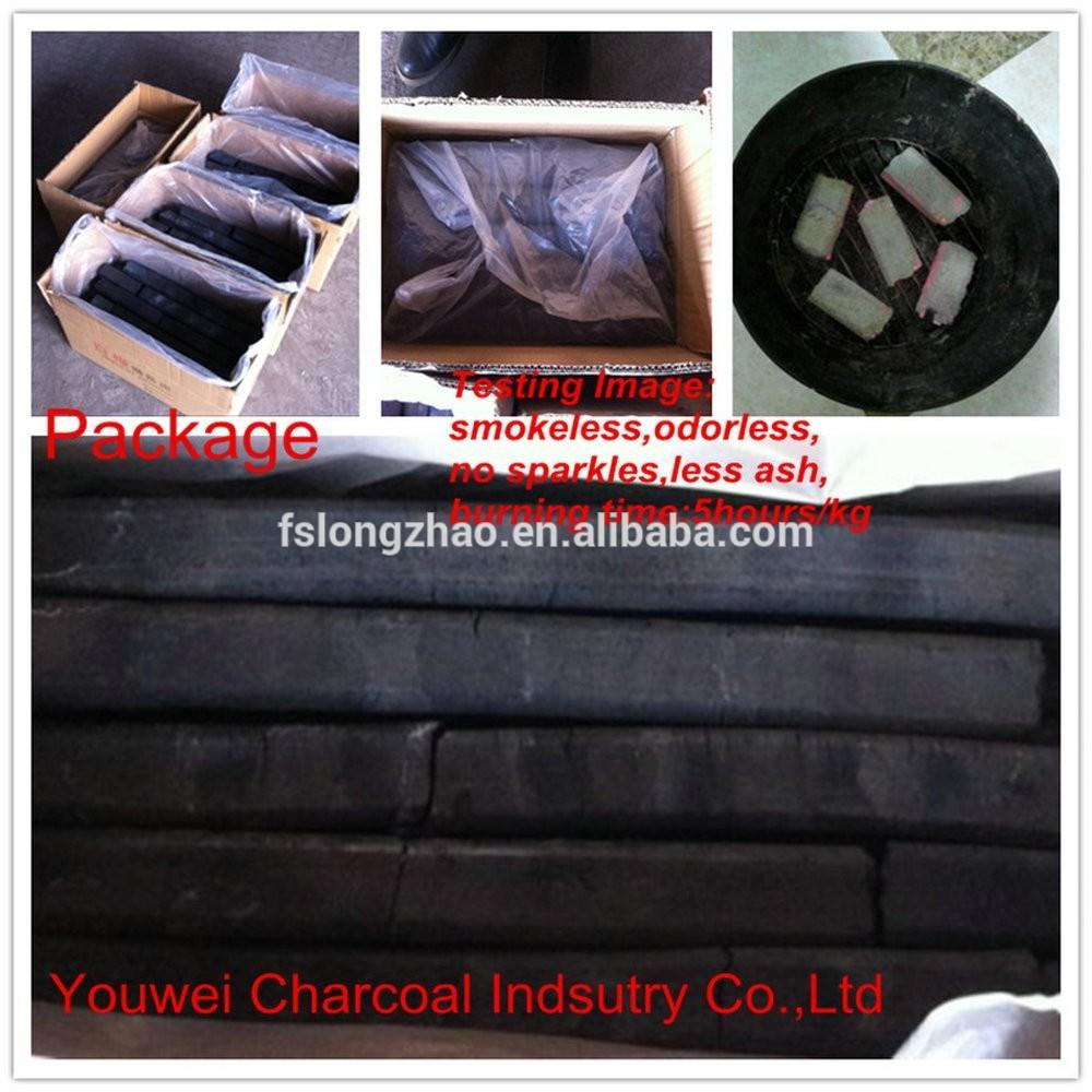 Hexagonal and quadrangle shape charcoal making, machine made charcoal