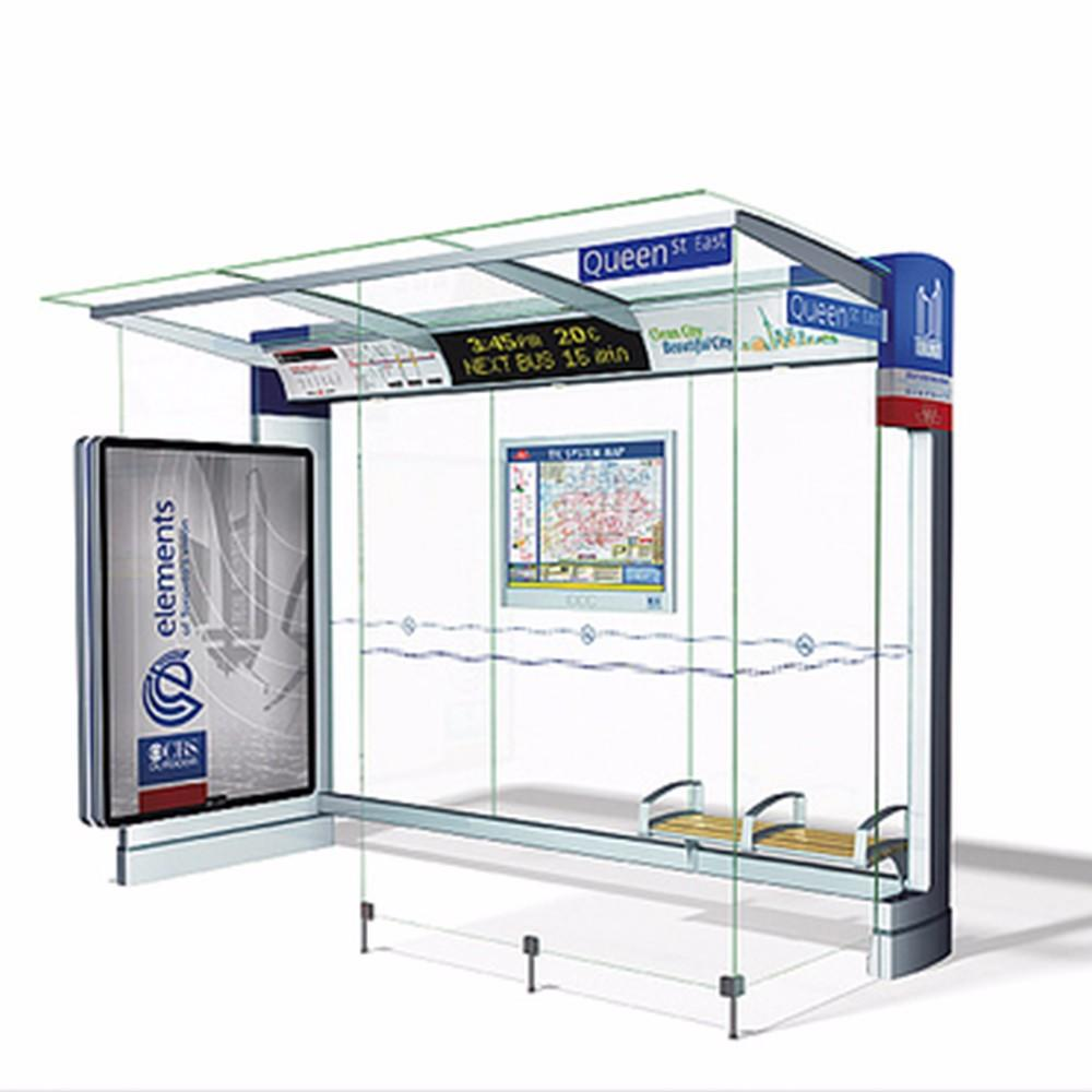 Modern Urban Smart Metal Bus Stop Shelter Design