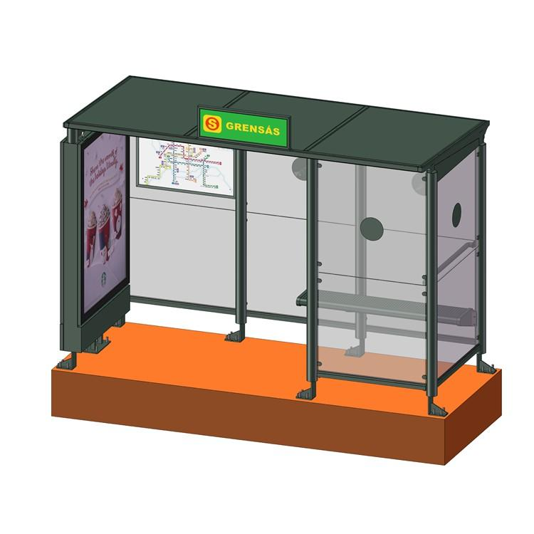 High Quality Bus Stop Shelter outdoor furniture bus shelter price