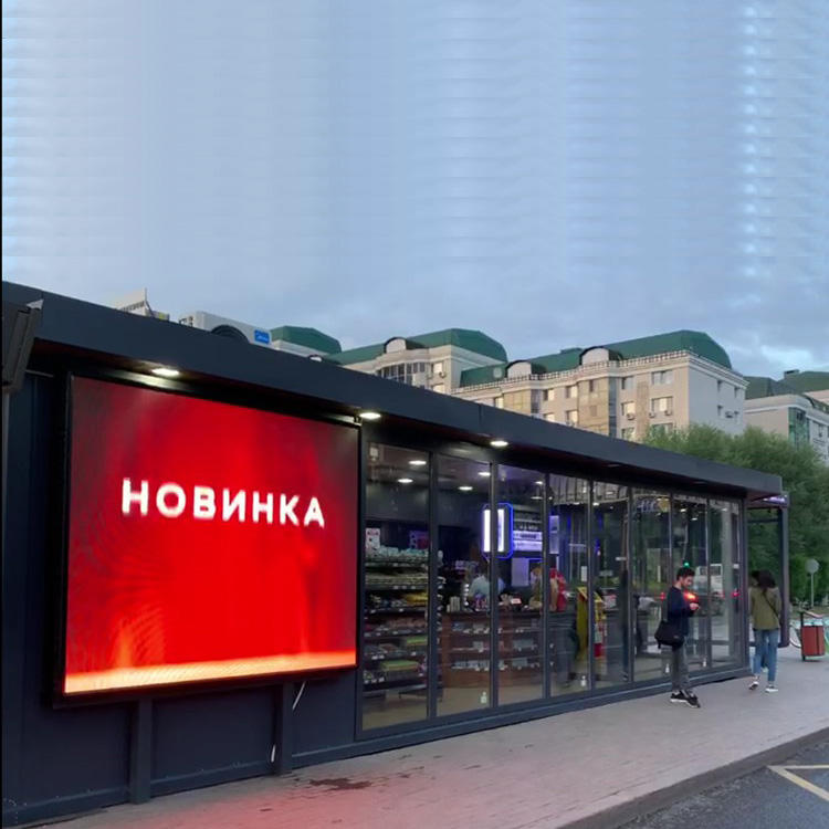Modern Smart Bus Stop Shelter - Russian Style