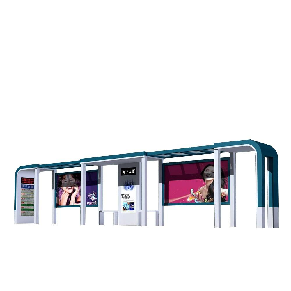 Smart Project Stainless Steel LED Light Box Bus Stop Shelter