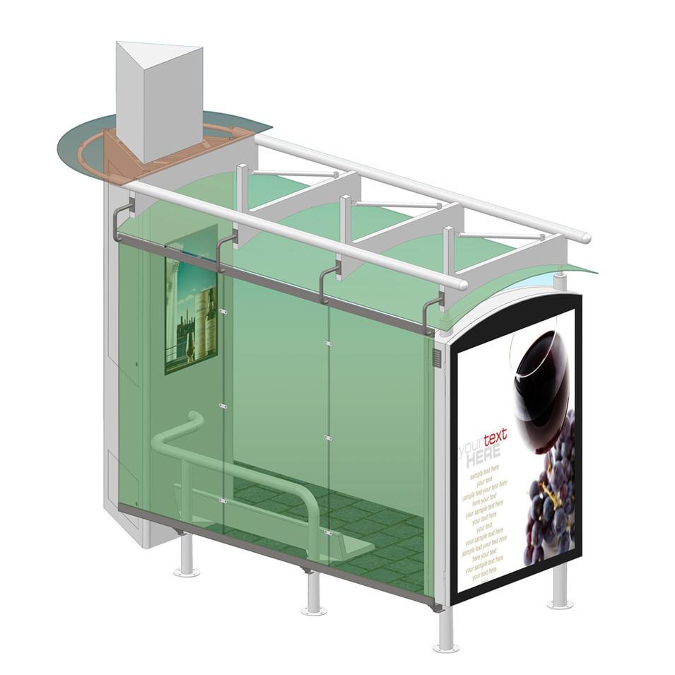 Advertising digital screen outdoor bus stop smart bus shelter