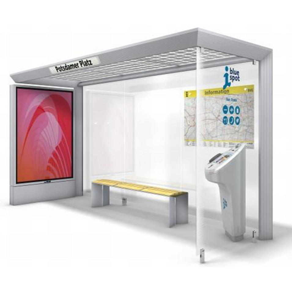 2020 Fashion Smart Bus Shelter Bus Stop Design Manufacturer