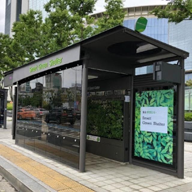 2020 Professional advertising smart bus shelter bus stop design