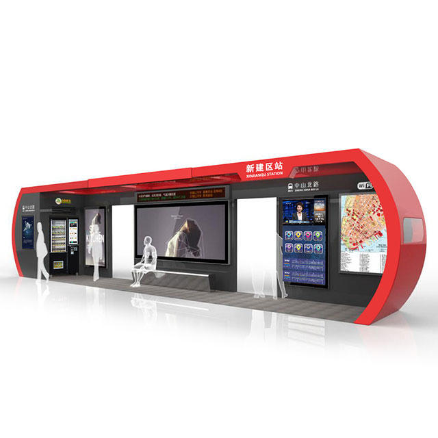 Outdoor Street Furniture Digital Bus Transit Shelter