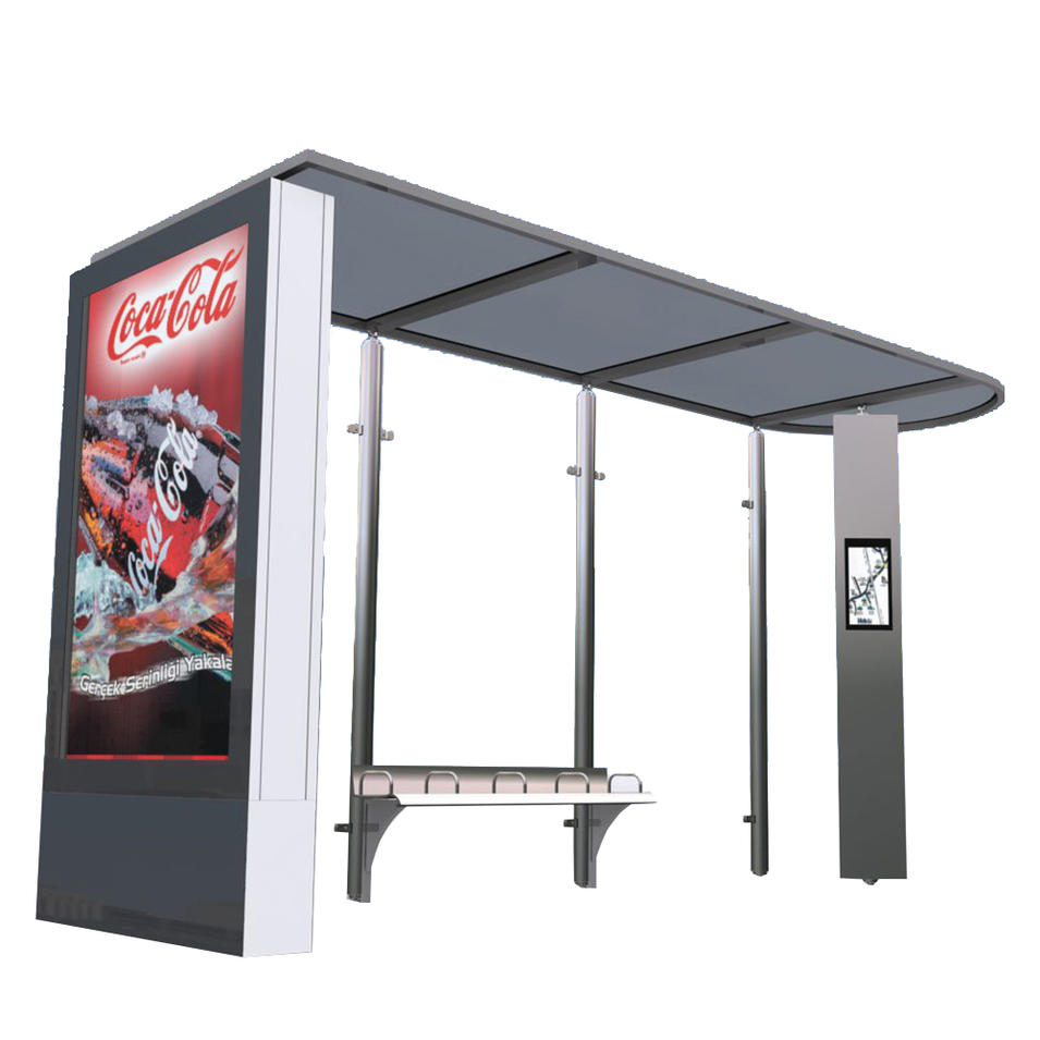 Smart Metal Bus Stop Shelter With High Quality