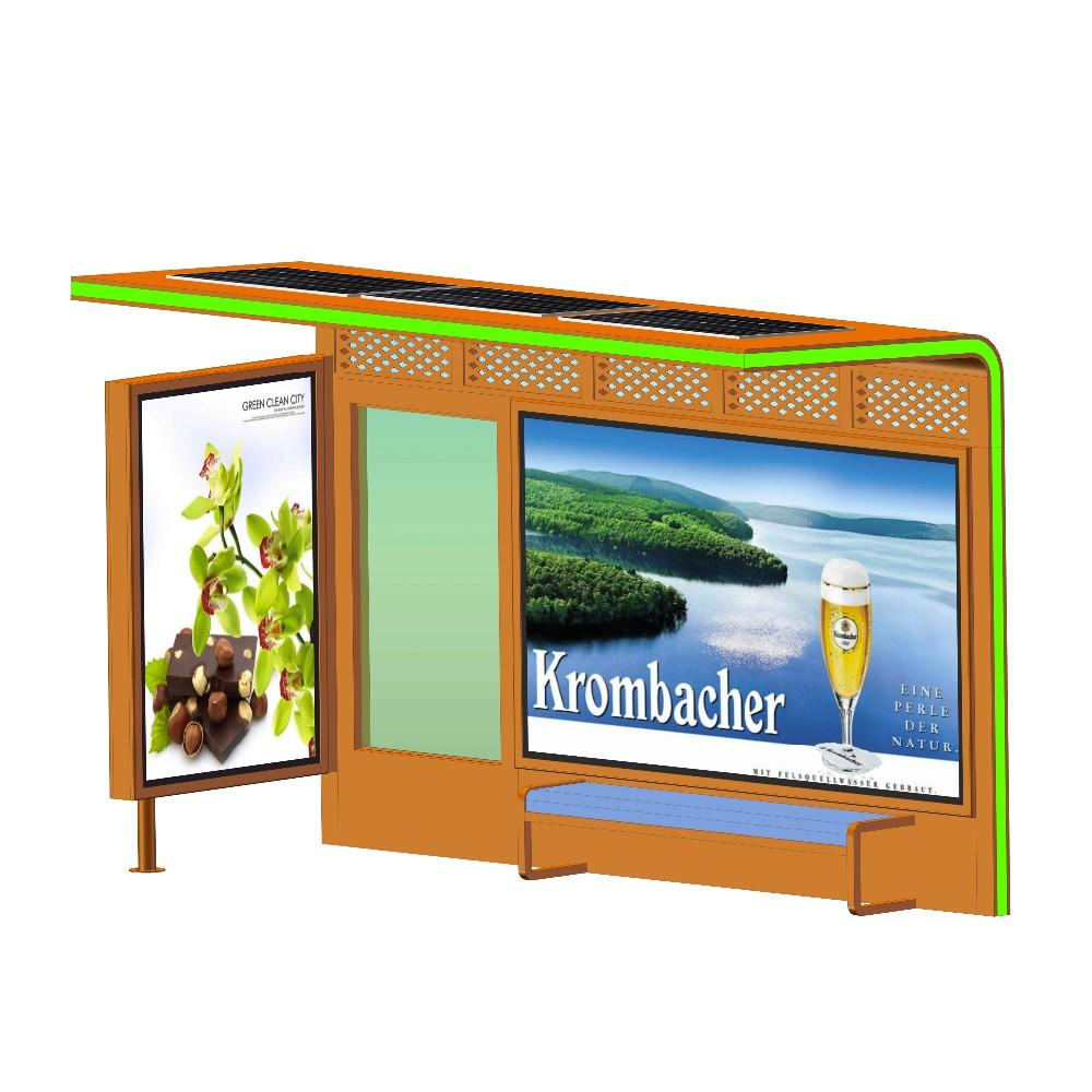 Customized Smart Bus Stop Bus Shelter for Advertising