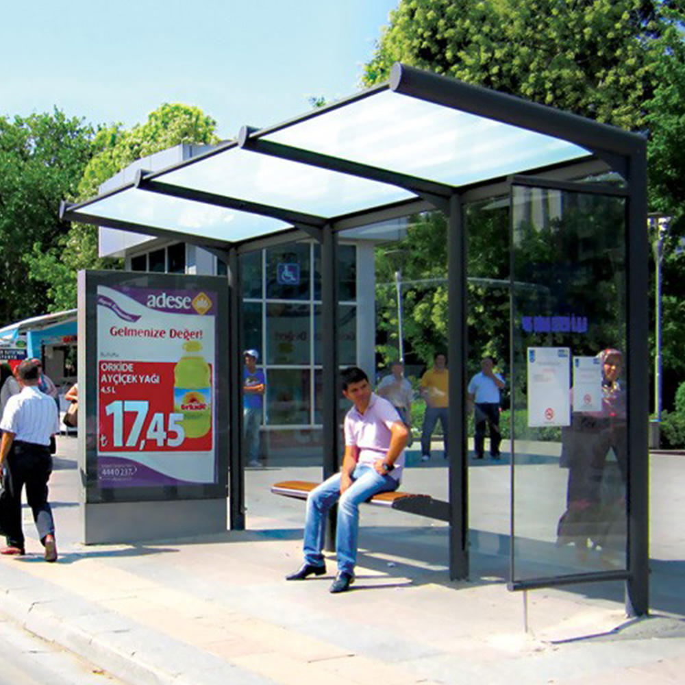 Digital Bus Stop Station For Passenger Waiting Bus