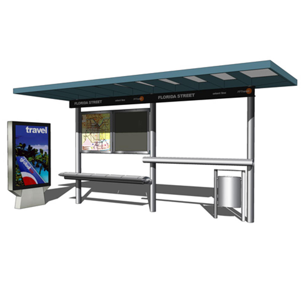 Smart City Outdoor Advertising Bus Shelter Bus Station