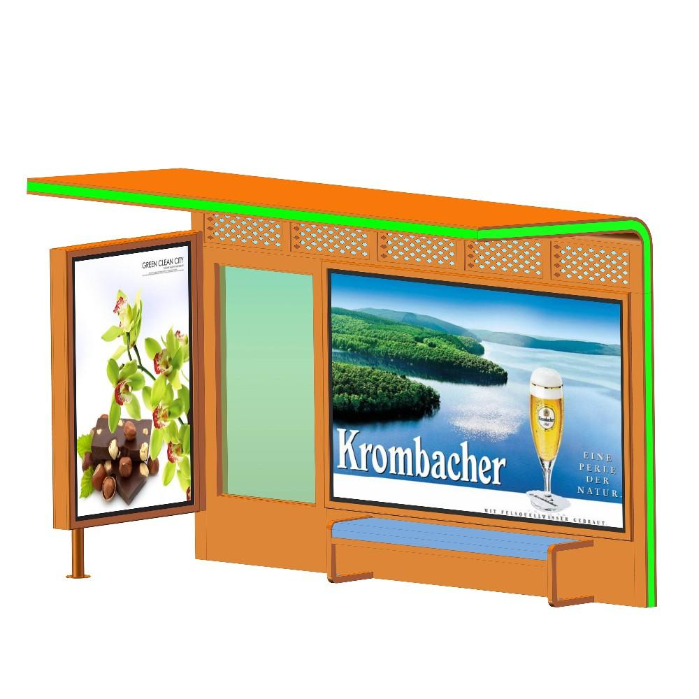 Modern outdoor smartadverting bus stop bus shelters