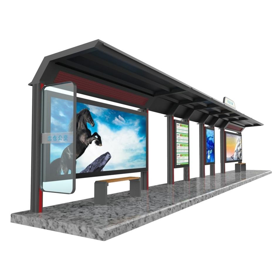 Street furniture bus shelter materials smart bus stop