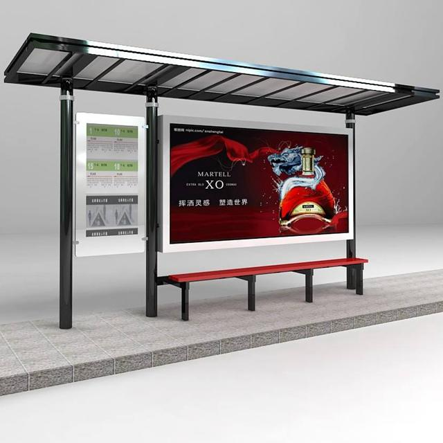 High Quality Bus Stop Design Bus Shelter with Advertising Bus Station