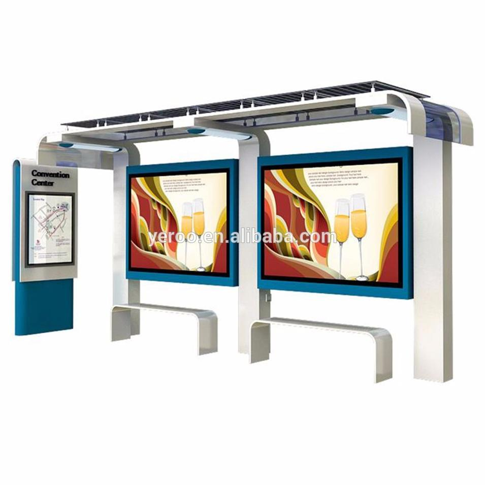 Advertising Smart Bus Shelter With Lightbox