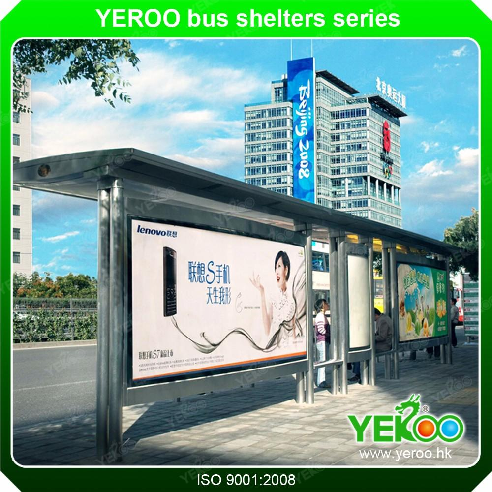 Smart bus stop station with smart city public facilities