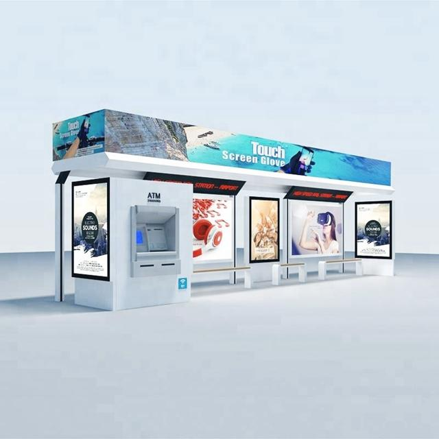 New design city smart bus station bus shelter manufacturers