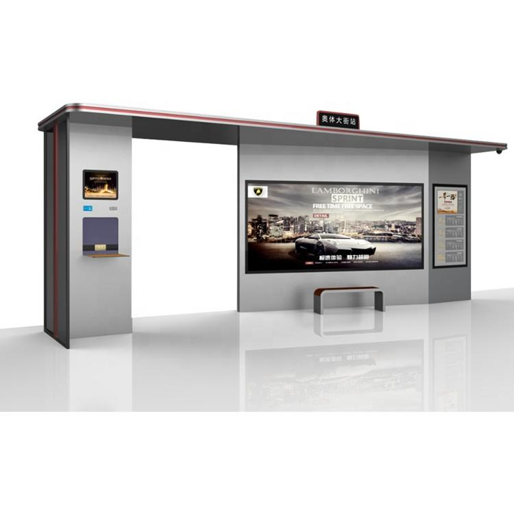 2020 Modern Design smart bus shelter digital bus stop