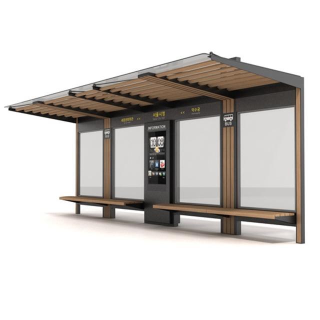 Urban Outdoor Advertising Smart Bus Stop Shelter Manufacturers