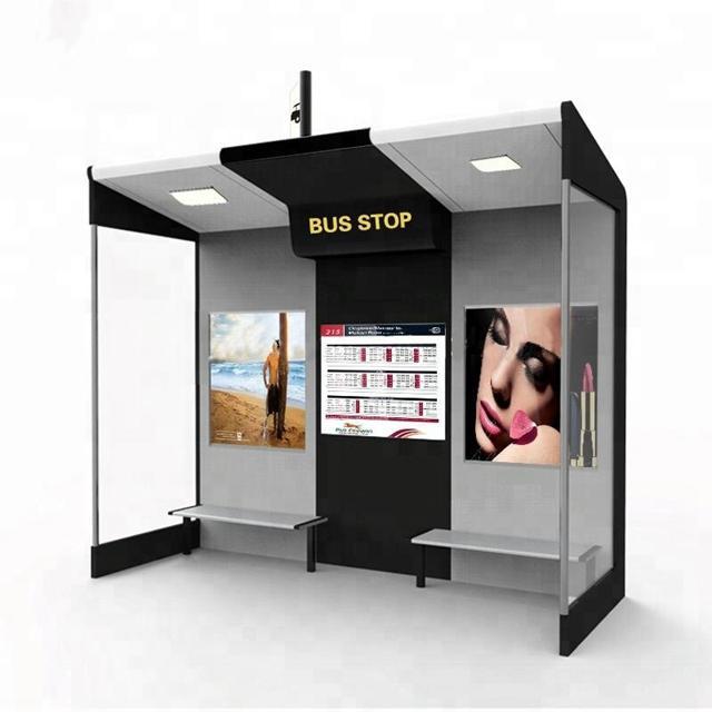 Modern Design Smart Bus Shelter Bus Stop Shelter Manufacturers
