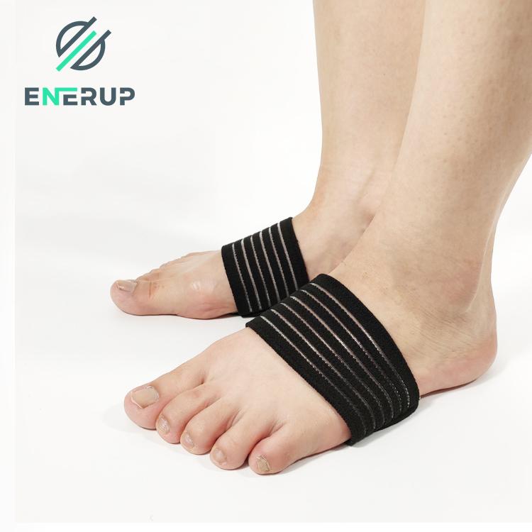 Enerup Plantar Fasciitis Pad Nylon Compression Yoga Silicone Gel Socks with Arch Support