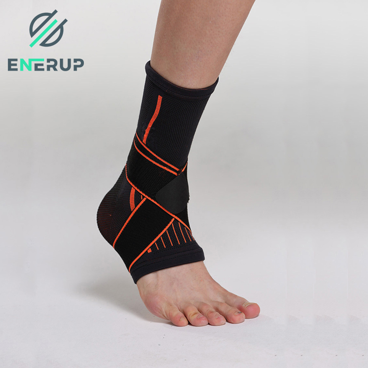 Enerup Copper Spandex Foot Unisex Medical Ankle Pad Wrapfor Protection Compression Sleeve Knee Brace For Rolled Ankle Fitness