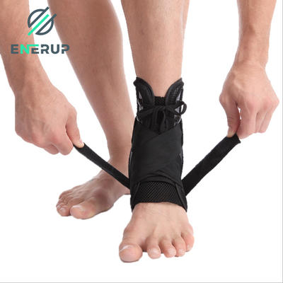 Enerup Professional Men Women Basketball Soft Silicone Pro Ankle Splint Foot Support Brace Sleeve Elastic Strap Support Wrap