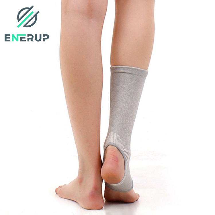 Enerup Bamboo Charcoal Seamless Knitted Sport Medias Tobillera Ankle Support Brace
