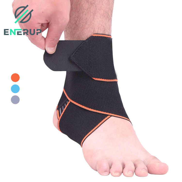Enerup Anti Fatigue Foot Pain Ankle Sprain Heel Cuffs Padded Strap Basketball Ankle Sprain Guard Brace Sports Support