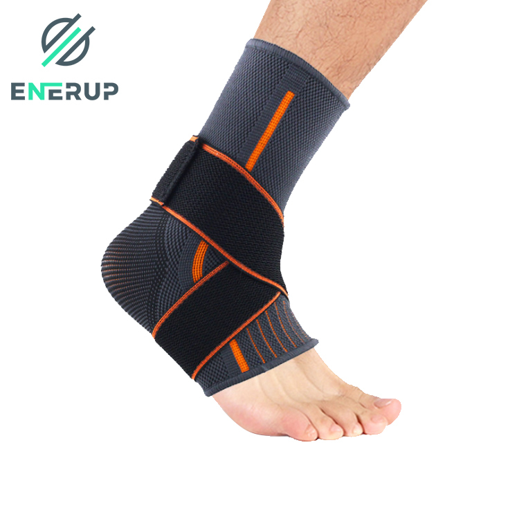 Enerup Human Knitted Plantar Fasciitis Functional Knee And Ankle Foot Brace Support Stabilizer Compression Sleeve