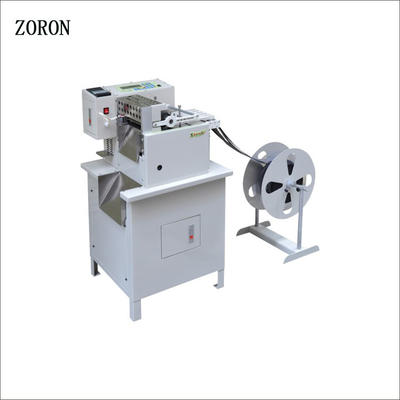 computer controlled magic tape cutter hot&cold textiles belt automatic pvc roll fabric cutting machine