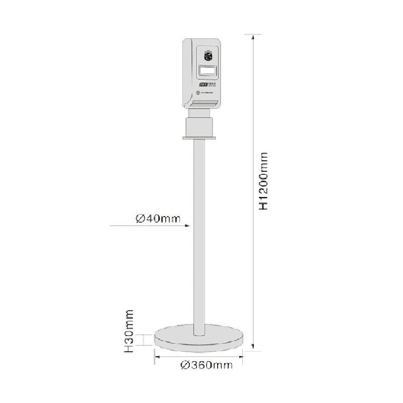 Floor Standing stainless steel automatic soap dispenser touchless