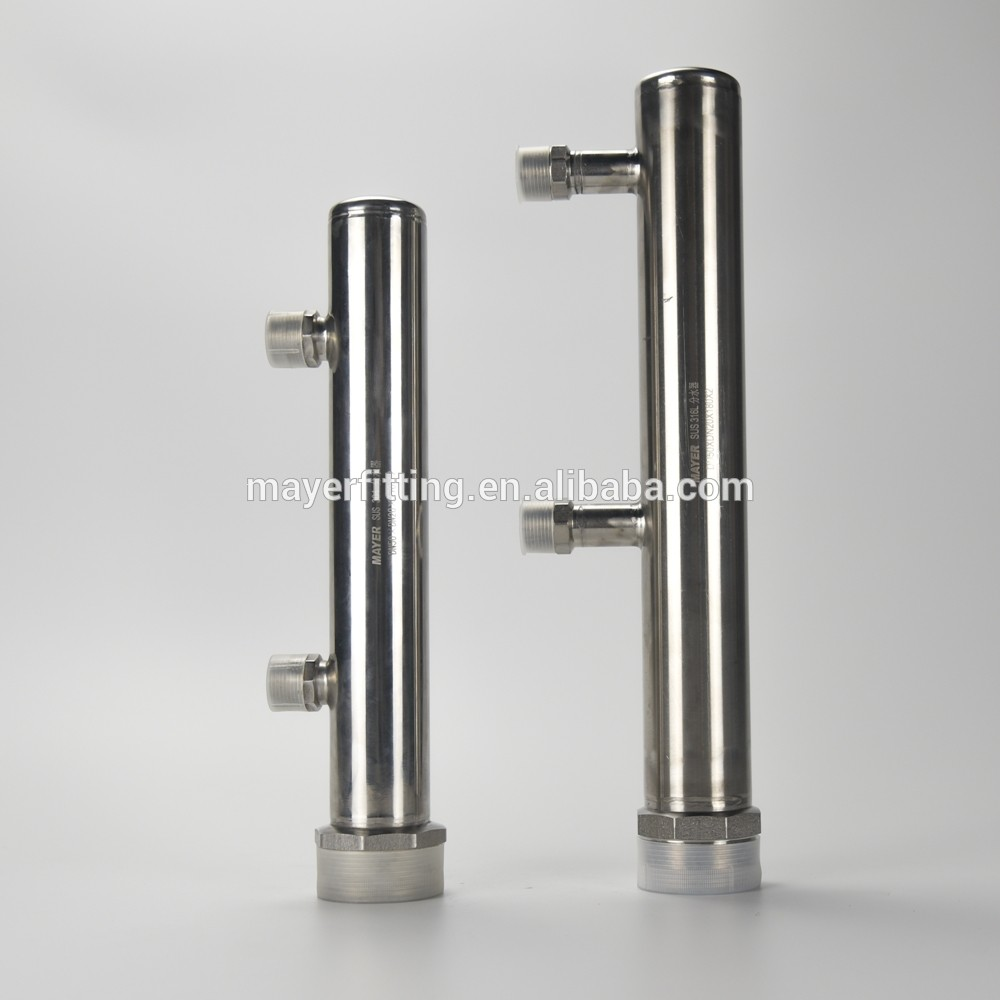 Multi-ways Stainless Steel Manifold for UV System Quartz Thimble