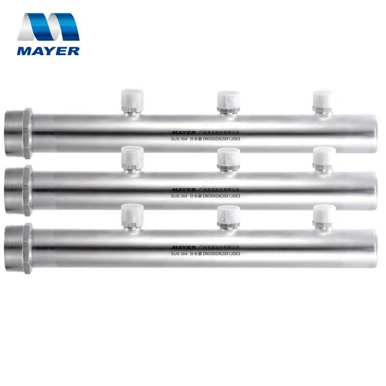 3-12 ways Stainless Steel Water Manifold for Water Distribution