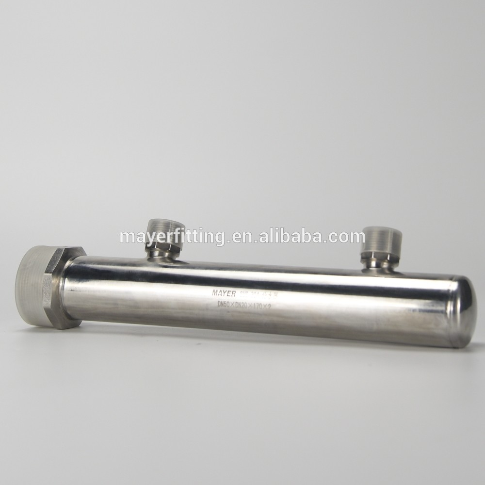 Multi-ways Stainless Steel Manifold for UV System Quartz Thimble