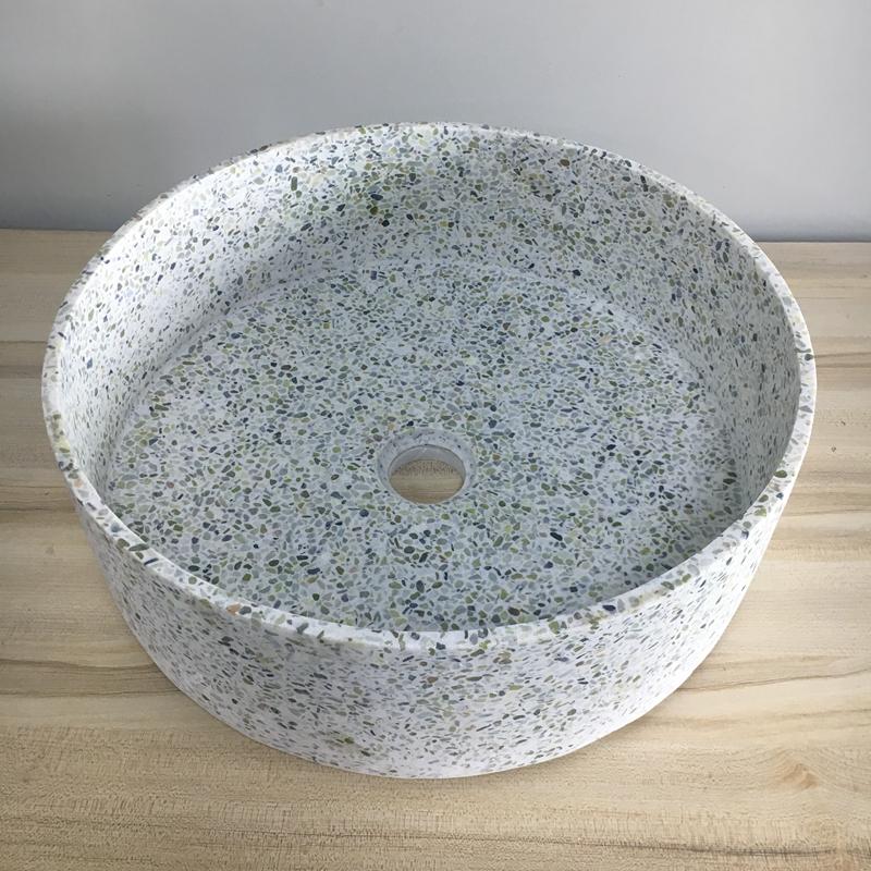 Eco-friendly Hotel Supply Natural Concrete Bathroom Wash Basin