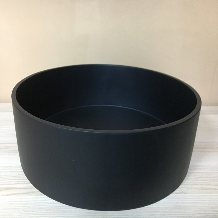 Durable Black Hotel Counter Top Poly Resin Bathroom Washing Basin