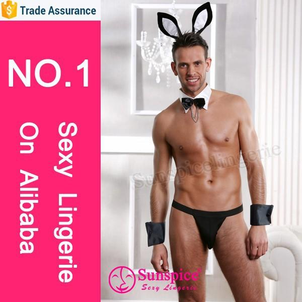 Newest style lingerie copyright sexy army costume for men adult men bunny costume sexy men's underwear
