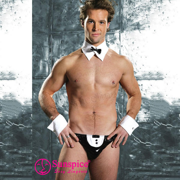 Hot sexy men novelty French waiter men's underwear