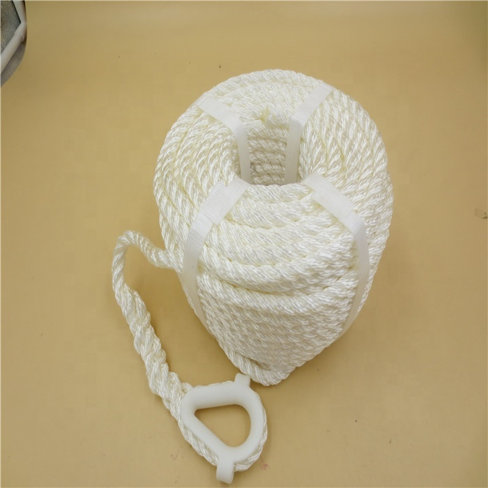Hawser marine rope custom length 3 strand twisted sailing rope