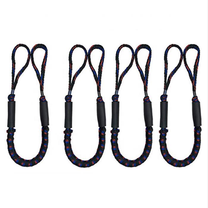 light weight bungee dock line regular size4-6ft 5-7ft 6-9ftboat accessory /stretch mooring rope for boat,jet ski,kayak