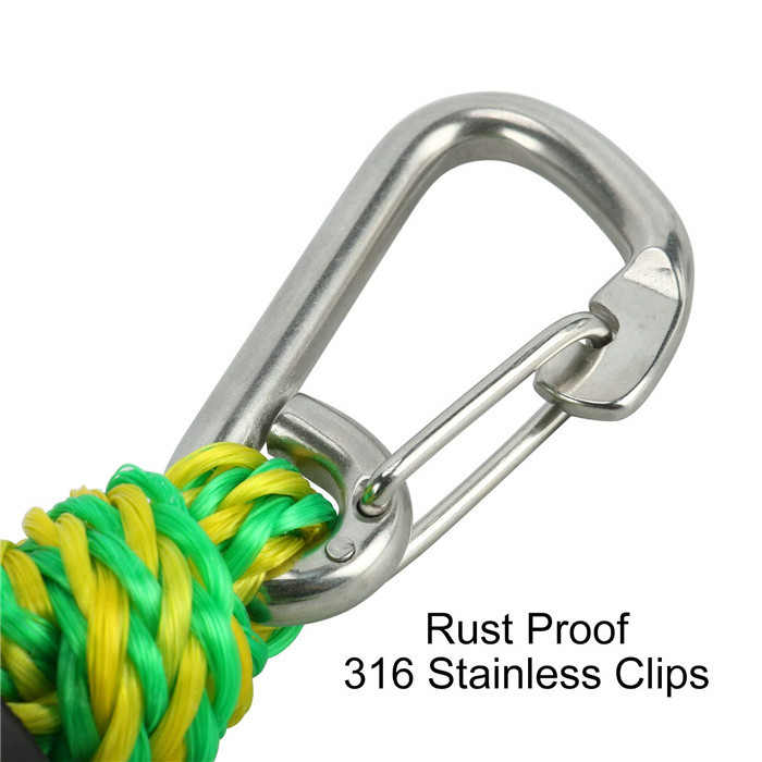 Amazon top one sale light weight PWC bungee dock line accessory /stretch mooring rope for boat docking