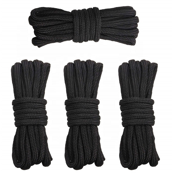 4pack double braided nylon dock line with breathable bag package
