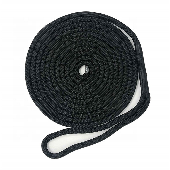 high quality nylon polyester dock rope ship mooring rope