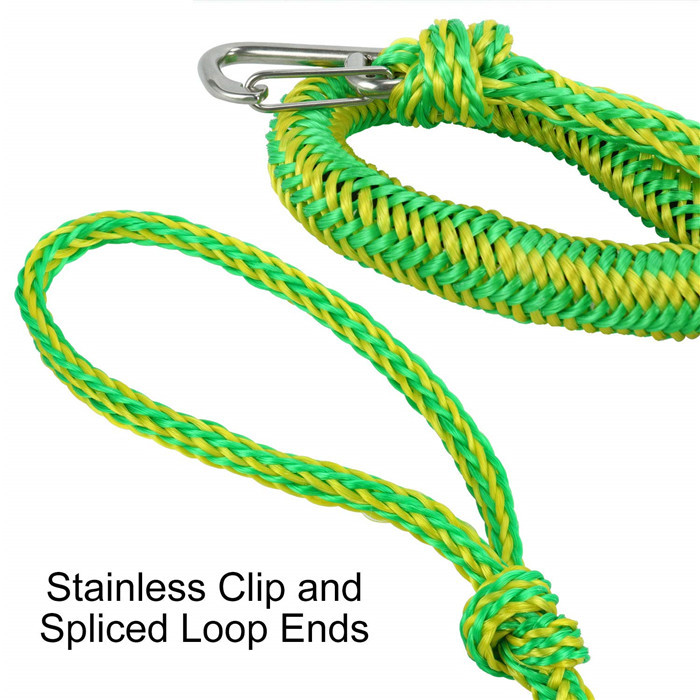 PWC bungee dock line easy to handle with on loop and one hook