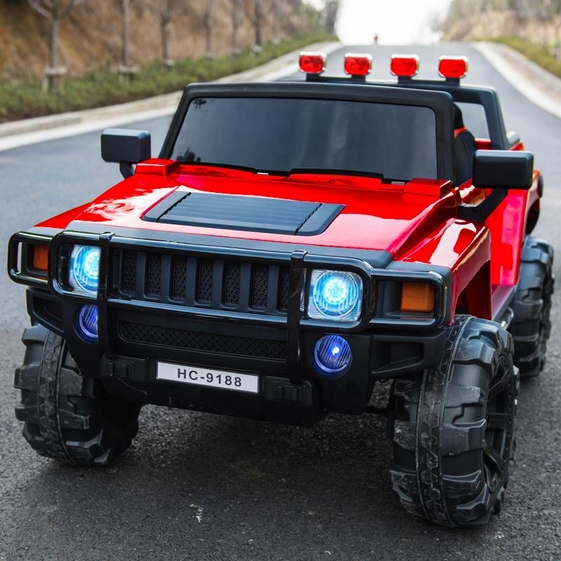 High quality hummer jeep power wheel 12v for kids to drive electric kids ride on car