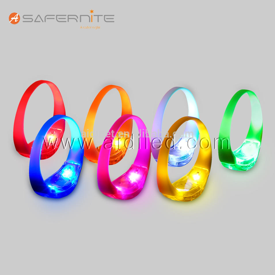 concert and festival flashing light sound activated led bracelet