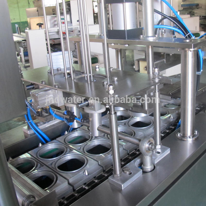 Automatic rotary cup filling and sealing capping machine