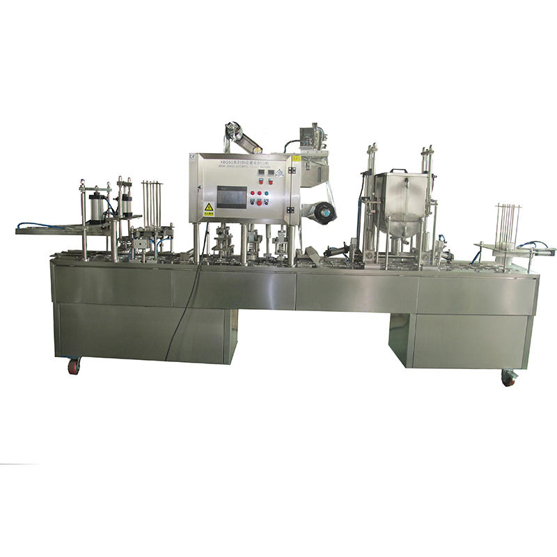 Hot sale fully automatic water cup filling sealing packing machine