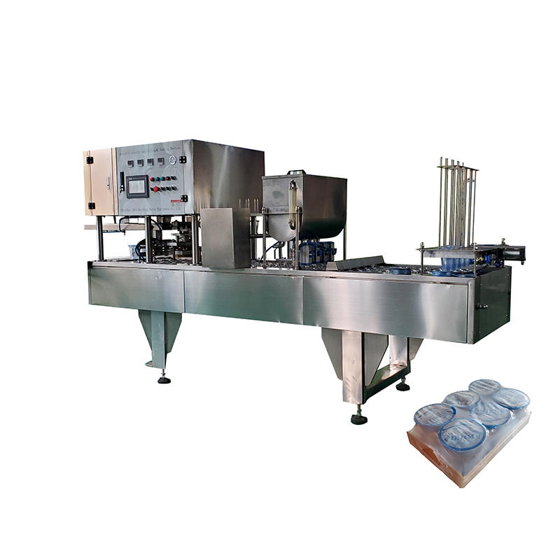 Automatic Liquid Ice Cream/Jelly/ Drinking Water Plastic Cup Packing Machine Cup Filling Sealing Machine