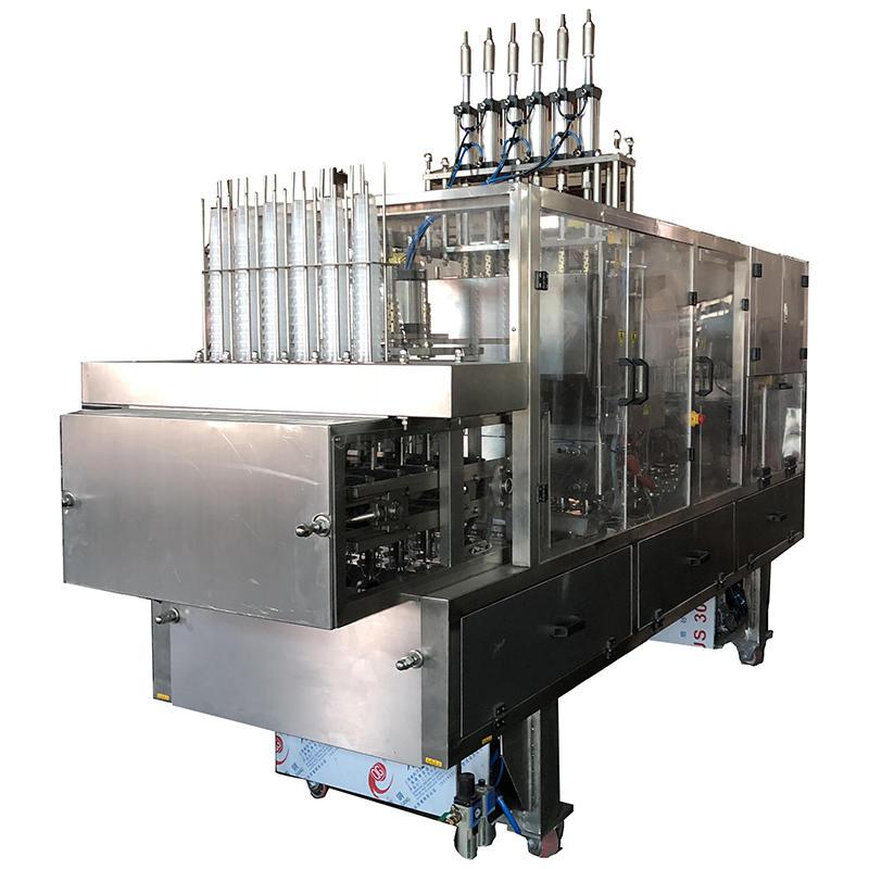automatic yoghurt cup filling sealing machine