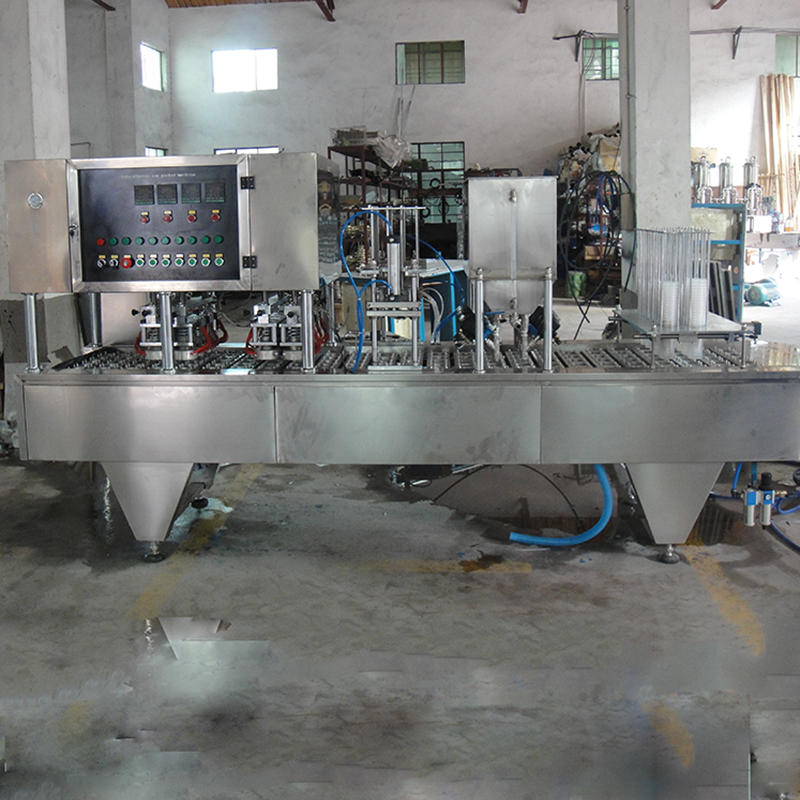 Automatic CE Plastic automatic yoghurt coffee water ice cream cup filling and sealing machine